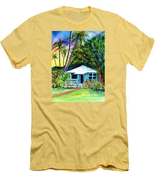 Men's T-Shirt (Slim Fit) featuring the painting Dreams Of Kauai 2 by Marionette Taboniar