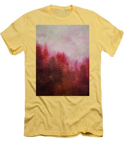 Men's T-Shirt (Slim Fit) featuring the digital art Dreamy Autumn Forest by Klara Acel