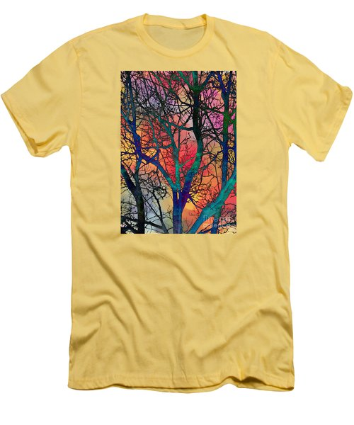Men's T-Shirt (Slim Fit) featuring the digital art Dreamy Sunset by Klara Acel