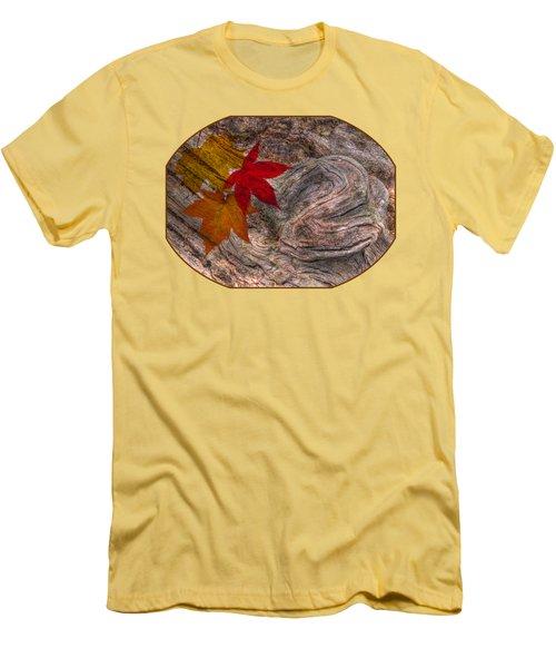 Drifting Autumn Leaves Men's T-Shirt (Slim Fit) by Gill Billington