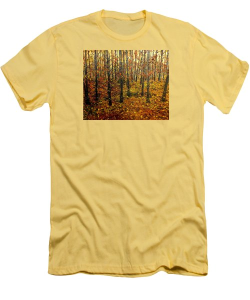Drifting On The Fall Men's T-Shirt (Slim Fit) by Lisa Aerts