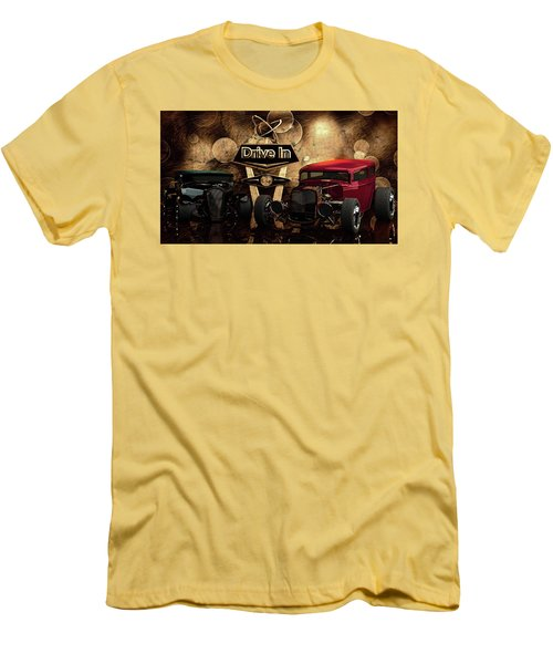 Men's T-Shirt (Slim Fit) featuring the photograph  Drive In by Louis Ferreira