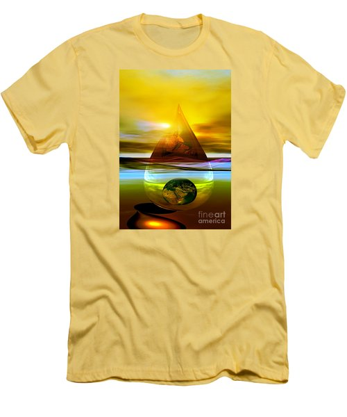 Men's T-Shirt (Slim Fit) featuring the digital art Drop Z by Shadowlea Is