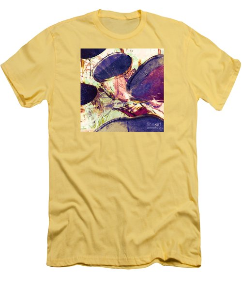 Men's T-Shirt (Athletic Fit) featuring the photograph Drum Roll by LemonArt Photography