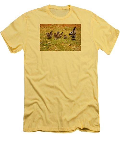 Duck Family I Men's T-Shirt (Slim Fit) by Cassandra Buckley