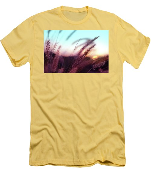 Men's T-Shirt (Slim Fit) featuring the photograph Dune Scape by Laura Fasulo