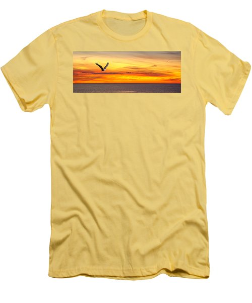 Eagle Panorama Sunset Men's T-Shirt (Athletic Fit)