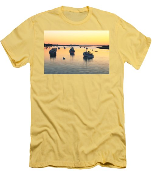 Men's T-Shirt (Slim Fit) featuring the photograph Early Morning In Chatham Harbor by Roupen  Baker