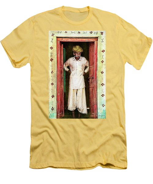 Men's T-Shirt (Athletic Fit) featuring the photograph Early Morning Pause by Bellesouth Studio