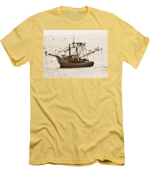 Early Morning Trawling  Men's T-Shirt (Slim Fit) by Christy Ricafrente