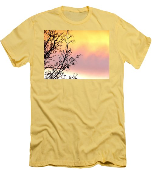 Men's T-Shirt (Slim Fit) featuring the photograph Early Spring Sunset by Will Borden