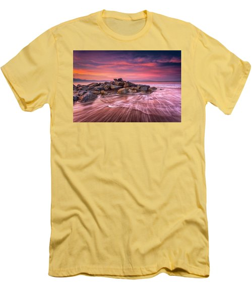 Earth, Water And Sky Men's T-Shirt (Athletic Fit)