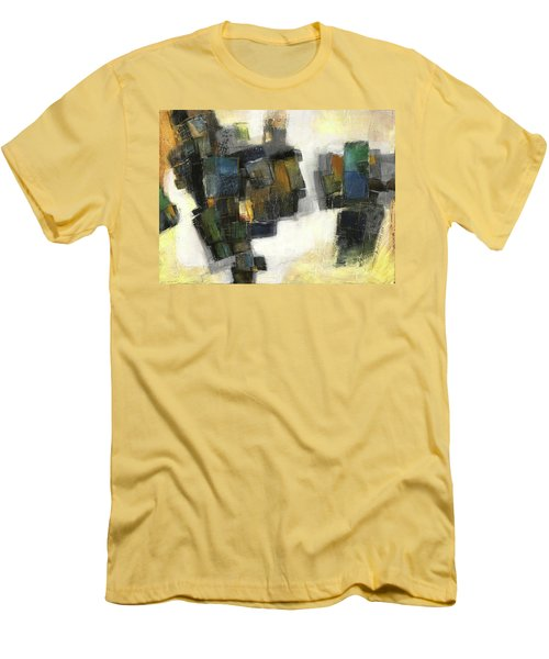 Lemon And Tiles Men's T-Shirt (Slim Fit) by Behzad Sohrabi