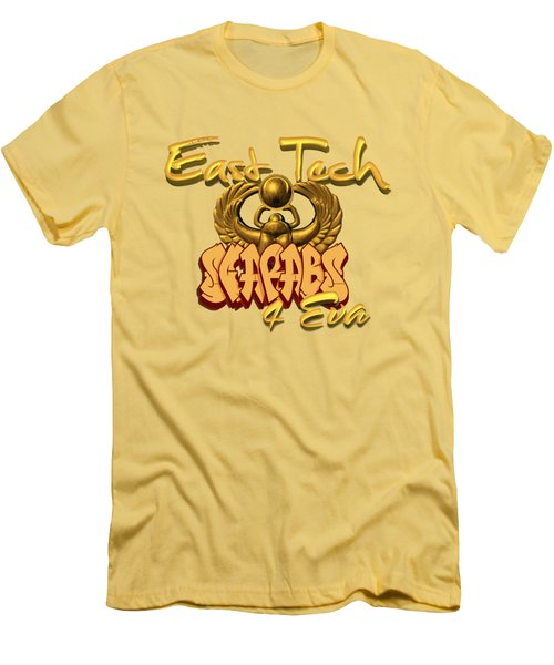 East Tech Scarabs Men's T-Shirt (Slim Fit) by Romaine Head