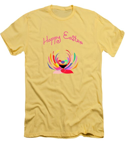 Easter Basket Men's T-Shirt (Slim Fit) by Methune Hively