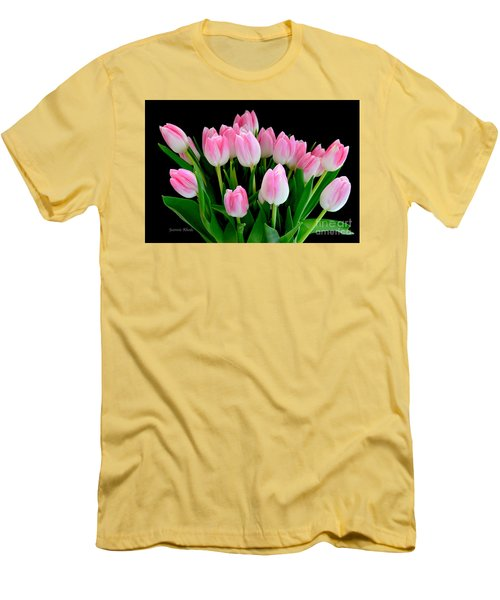 Easter Tulips  Men's T-Shirt (Athletic Fit)