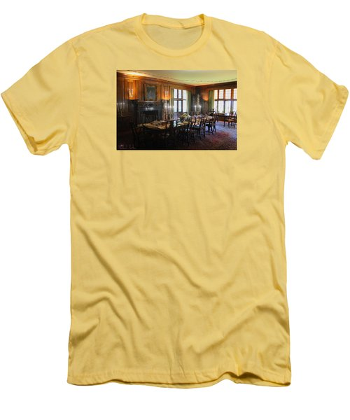 Men's T-Shirt (Slim Fit) featuring the photograph Edsel And Eleanor Ford Dining Room by Michael Rucker
