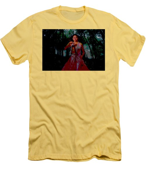 Men's T-Shirt (Slim Fit) featuring the photograph Eerie Woods by Brian Hughes