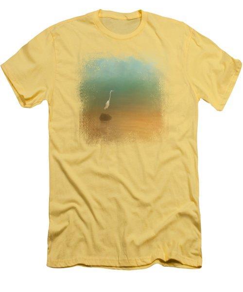 Egret At Sea Men's T-Shirt (Athletic Fit)