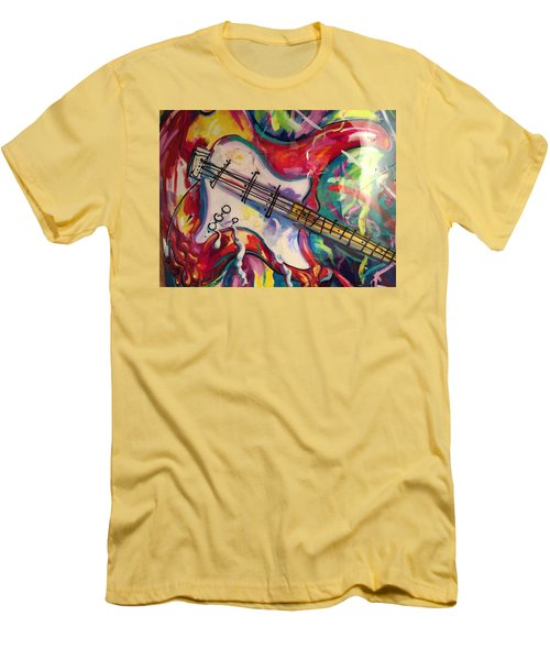 Electric Fusion  Men's T-Shirt (Slim Fit) by Heather Roddy