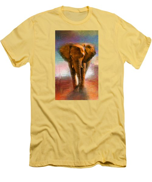 Elephant 1 Men's T-Shirt (Slim Fit) by Caito Junqueira