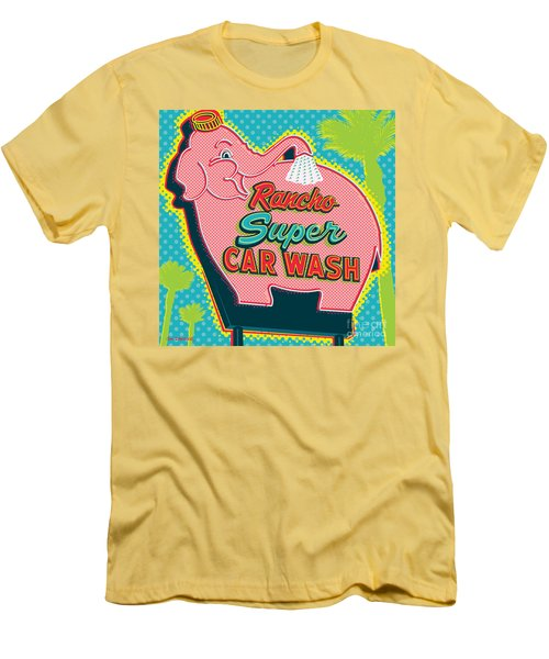 Elephant Car Wash - Rancho Mirage - Palm Springs Men's T-Shirt (Athletic Fit)