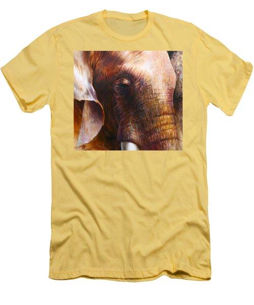 Elephant Empathy Men's T-Shirt (Slim Fit) by Vali Irina Ciobanu