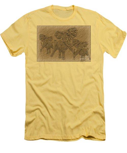 Elephants Three Men's T-Shirt (Athletic Fit)