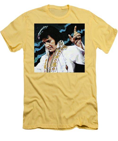 Elvis - How Great Thou Art Men's T-Shirt (Slim Fit) by John Lautermilch