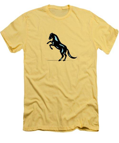 Emma - Pop Art Horse - Black, Island Paradise Blue, Pink Men's T-Shirt (Athletic Fit)