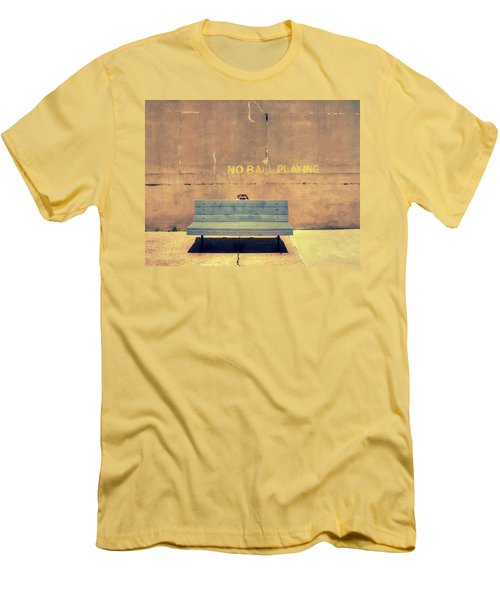 Empty Bench And Warning Men's T-Shirt (Athletic Fit)