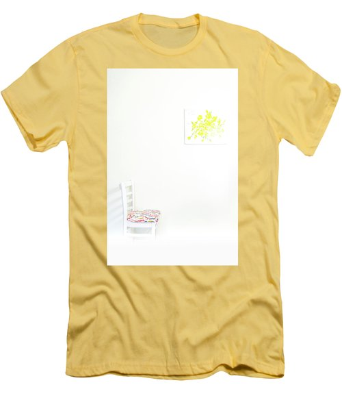 Empty Chair With Yellow Roses Men's T-Shirt (Athletic Fit)