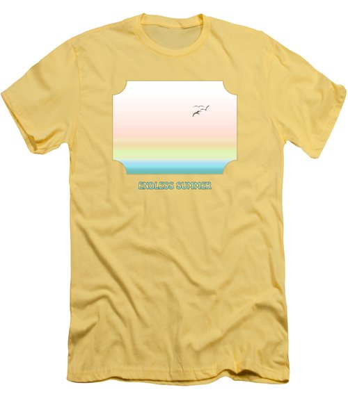 Endless Summer - Yellow Men's T-Shirt (Slim Fit) by Gill Billington