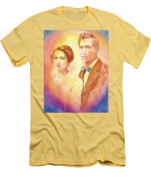 Engagement Day Men's T-Shirt (Slim Fit) by Tara Moorman
