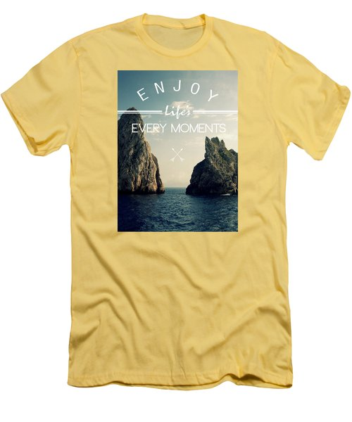 Enjoy Life Every Momens Men's T-Shirt (Athletic Fit)