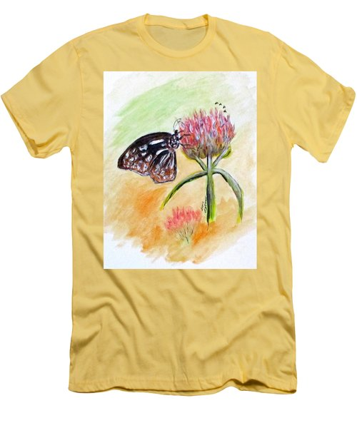 Erika's Butterfly Two Men's T-Shirt (Slim Fit) by Clyde J Kell