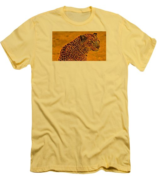 Essence Of Leopard Men's T-Shirt (Slim Fit) by Stephanie Grant