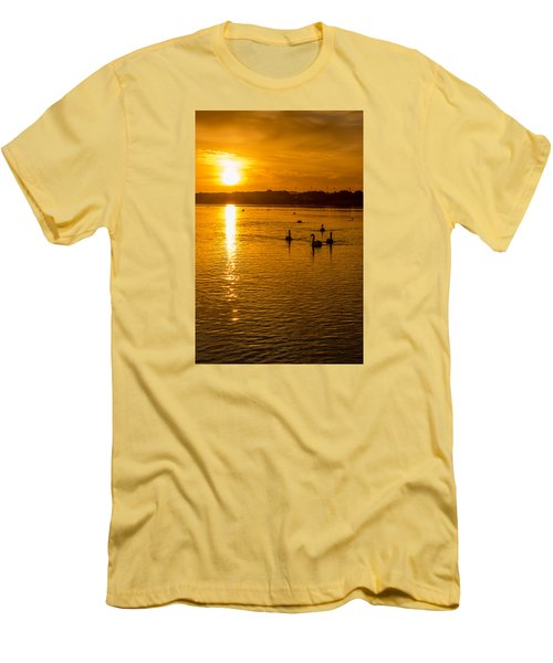 Estuary Sunset Men's T-Shirt (Slim Fit) by Martina Fagan