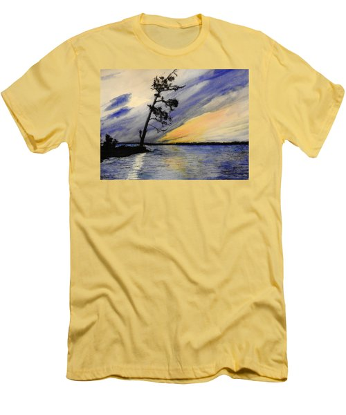 Evening At Petrie Island Men's T-Shirt (Slim Fit) by Betty-Anne McDonald