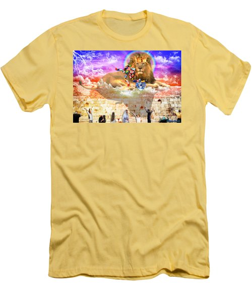 Men's T-Shirt (Slim Fit) featuring the digital art Every Tribe Every Nation by Dolores Develde