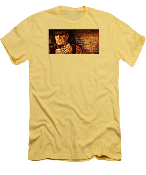 Men's T-Shirt (Slim Fit) featuring the painting Everybody Knows by Igor Postash