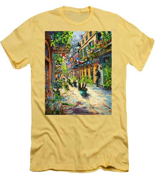 Men's T-Shirt (Slim Fit) featuring the painting Exchange Alley by Dianne Parks