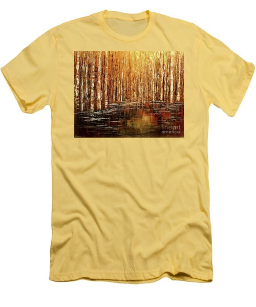 Men's T-Shirt (Slim Fit) featuring the painting Exploration Of Ohio by Tatiana Iliina