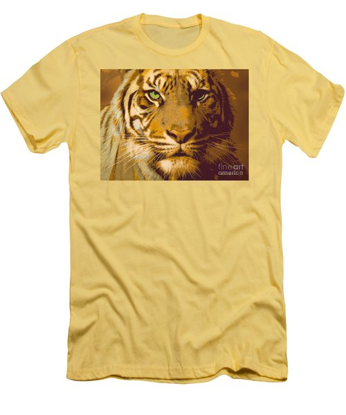 Eye Of The Tiger Animal Portrait  Men's T-Shirt (Athletic Fit)