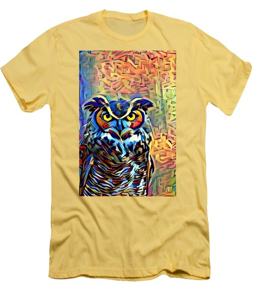Men's T-Shirt (Slim Fit) featuring the photograph Eyes Of Wisdom by Geri Glavis
