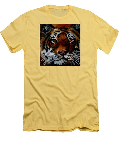 Face Of A Tiger Men's T-Shirt (Slim Fit) by Maris Sherwood