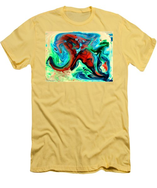 Men's T-Shirt (Slim Fit) featuring the painting Face To Face by Joyce Dickens