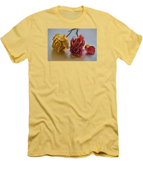 Faded Flowers Men's T-Shirt (Slim Fit)