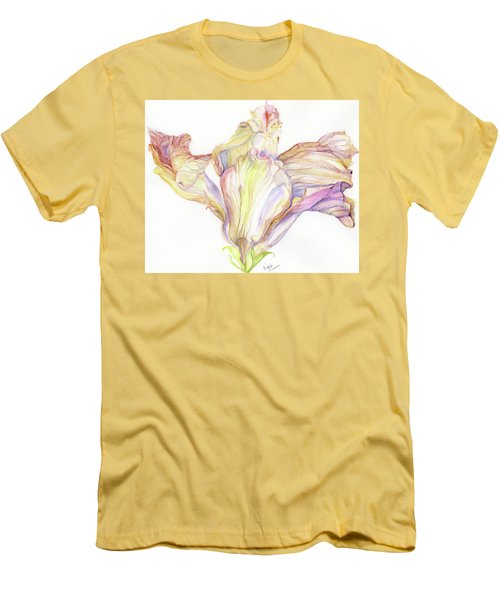 Faded Hibiscus Men's T-Shirt (Slim Fit) by Nadine Dennis