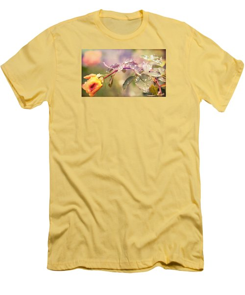 Men's T-Shirt (Slim Fit) featuring the photograph Fairy Drops by Cathy Donohoue